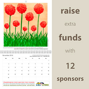 Personalised Month-To-View - Fundraising School Calendar
