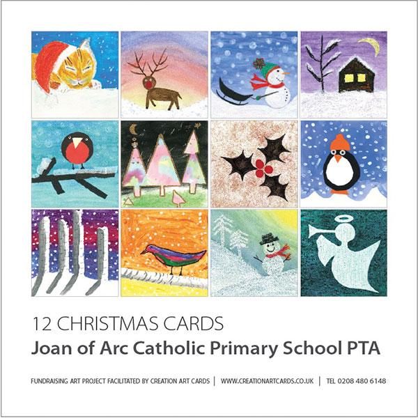 enterprising christmas art card project for schools